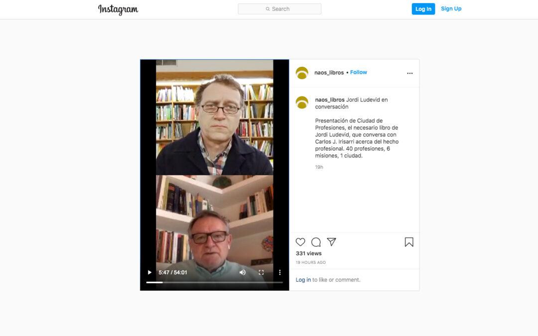 Presentación a la librería NAOS de Madrid, con Carlos Irisarri y Jordi Ludevid
