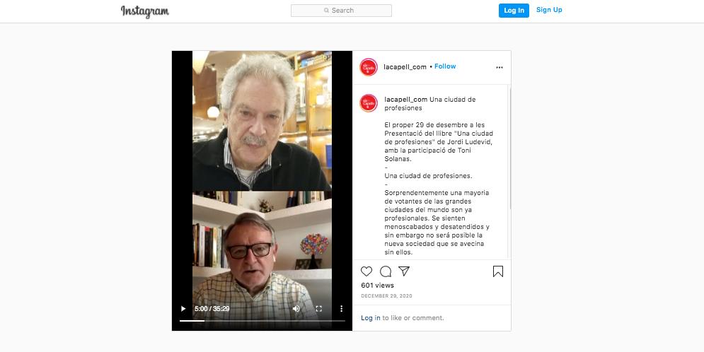 Presentación del libro «Una ciudad de profesiones» · Cooperativa Jordi Capell · 29/12/2020